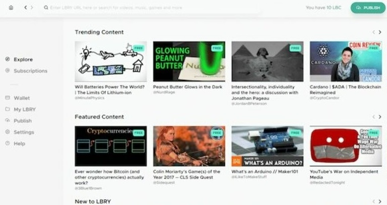 LBRY - Top Video Sharing Sites 2020